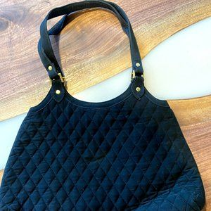 Vera Bradly Black Quilted Hobo Purse